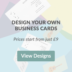 Design your own business cards. Prices start from just £9