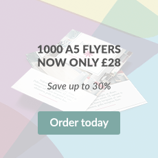 1000 A5 Flyers now only £28. Save up to 30%