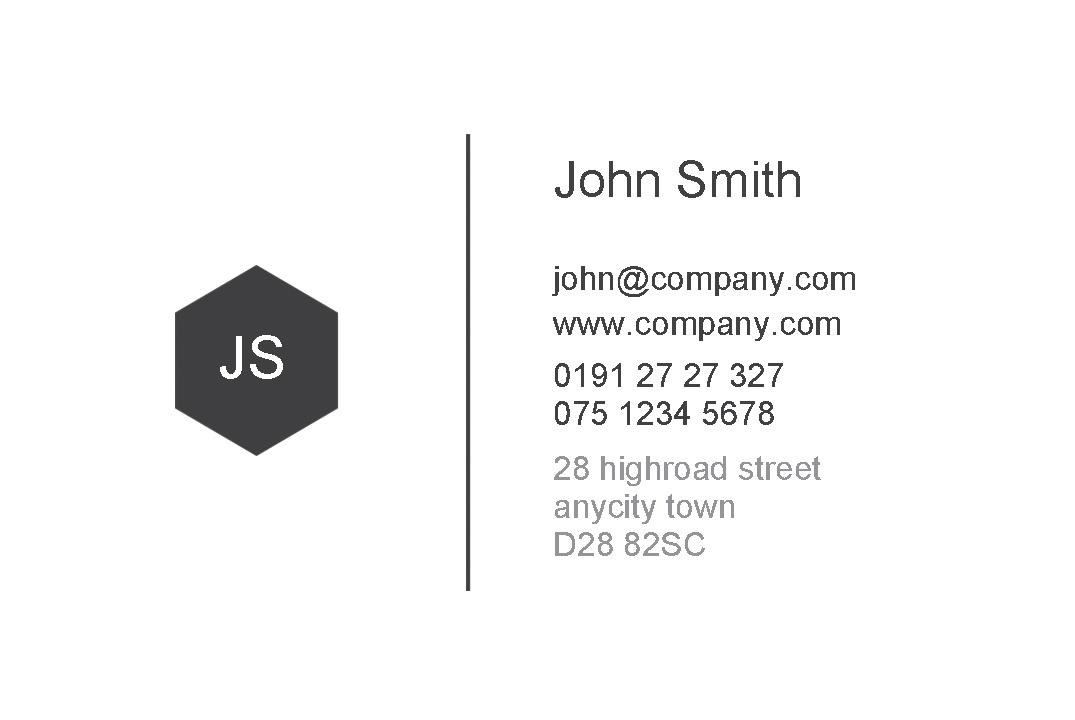 Free Business Cards Templates Instantprintcouk - Template of business card