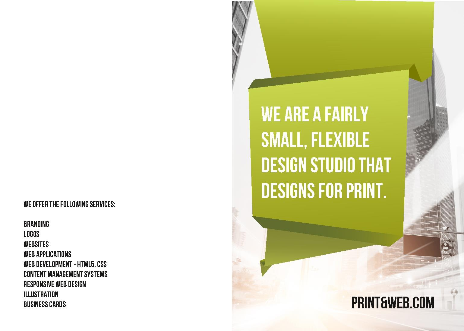 leaflets template