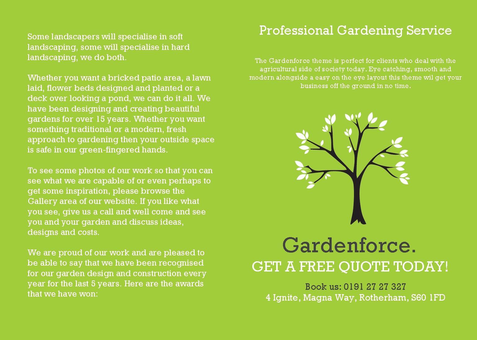 garden ville business card design rose garden floral wedding modern henna business cards a5 folded leaflet - Garden Design Business Cards