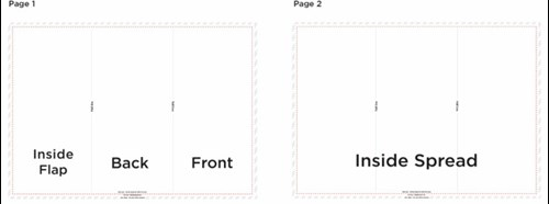How to set up folded leaflets c foldg pronofoot35fo Image collections