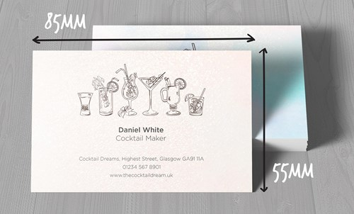 Metallic Business Card Dimensions