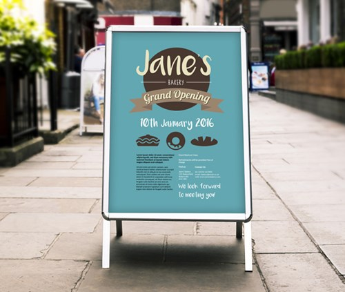 a1 size jane's bakery grand opening poster