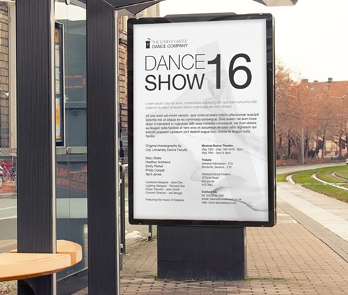 60x40 size dance show 2016 poster