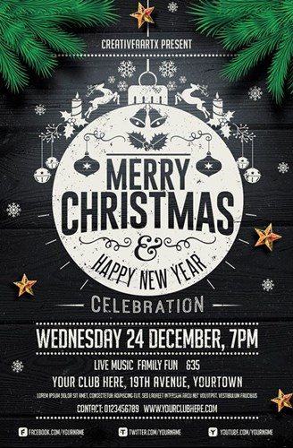 Christmas Party Poster.How To Create An Awesome Christmas Party Poster