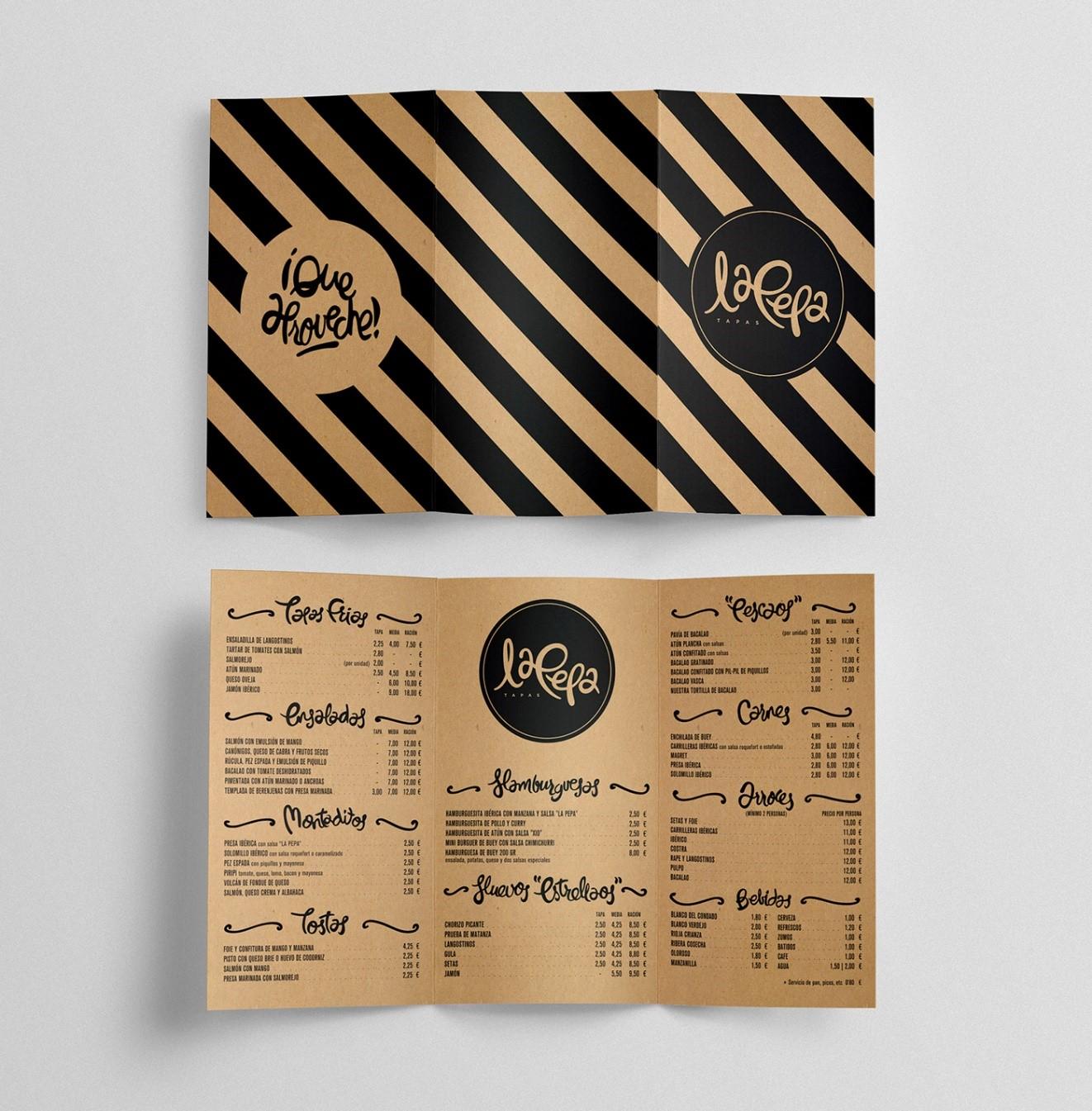 menu folded