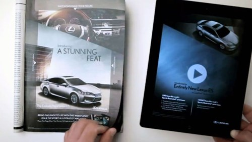 lexus synced ipad advert