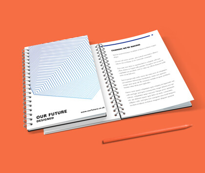 A6 wire bound booklets and brochures