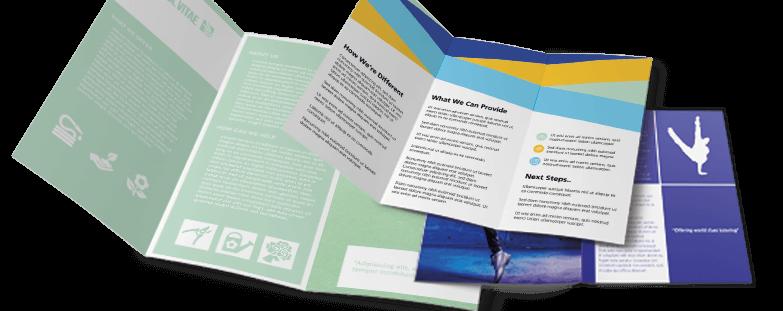 folded leaflet printing instantprint