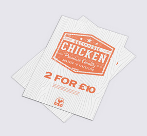 chicken takeaway menu flyer