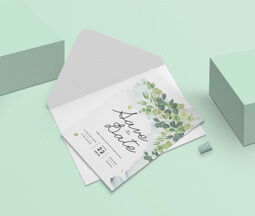Greenery save the date modern design