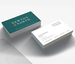 newton and north double sided business cards