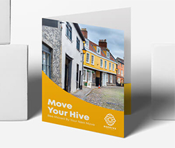 yellow glued presentation folders for estate agents