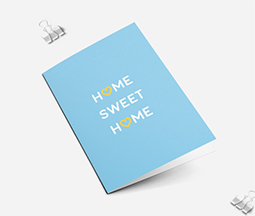 light blue new home cards