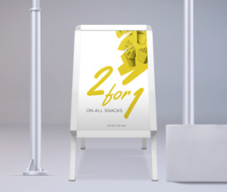 A2 A-Frame with Two A2 Posters