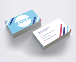 Business Cards on stand
