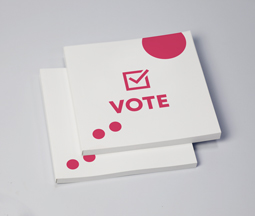 White election perfect bound brochure
