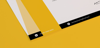 Yellow letterhead close up