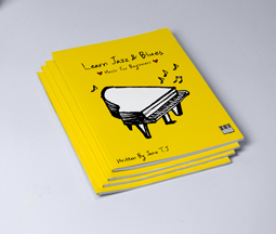 Yellow custom printed piano music book