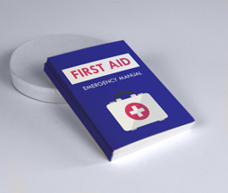 Blue printable first aid brochure
