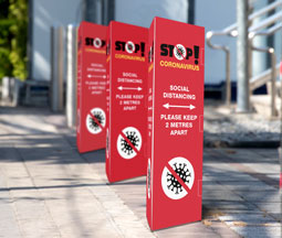 Bollard Covers for advertising