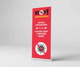 Stand 2 Metres Apart' Roller Banner