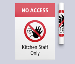 No access kitchen staff only poster and signs