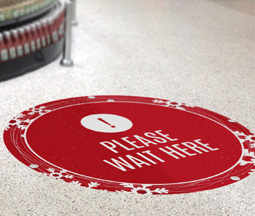 Christmas Vinyl Floor Stickers