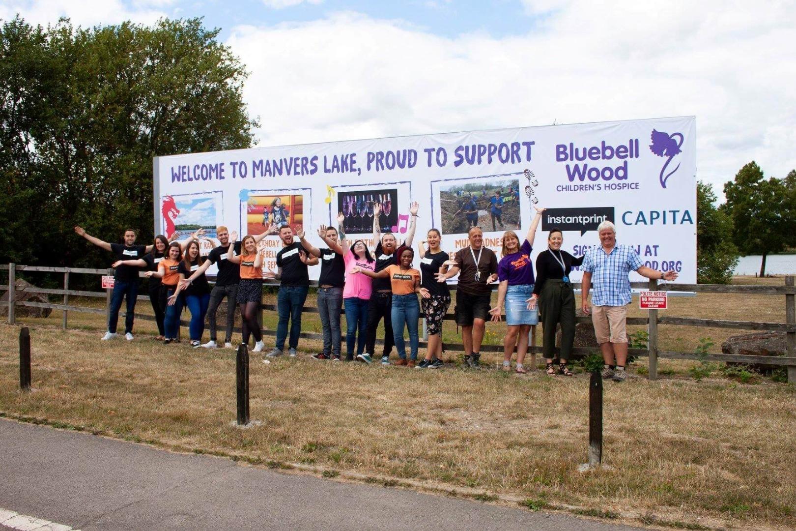 bluebell wood children's hospice PVC banner
