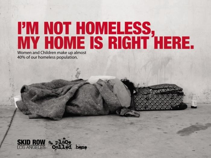 homelessness awareness campaign poster