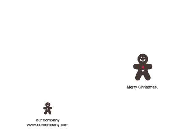 cute minimal christmas card design with a gingerbread man