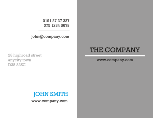 minimal grey white and blue stationery design template
