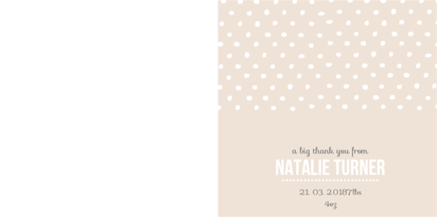 cute beige and white spotty greetings card design template
