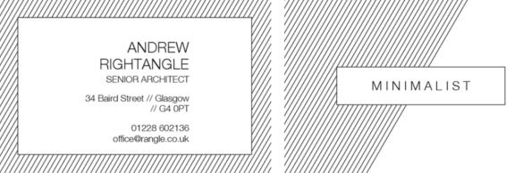 diagonal stripe business card design