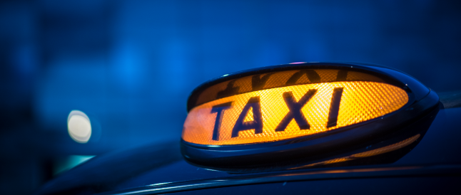 occupied taxi sign