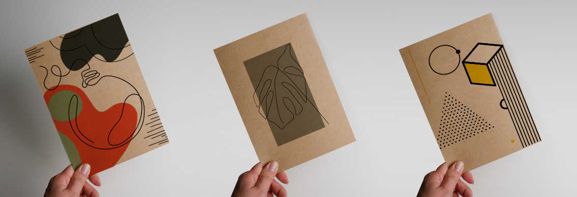 Creating white space on a Kraft flyer design