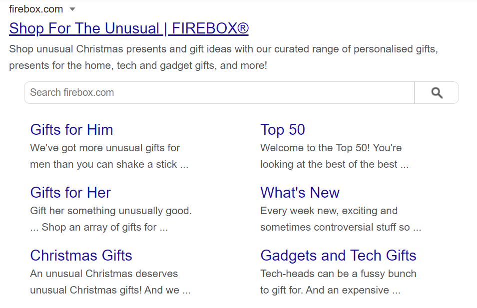 firebox meta descriptions showing funny tone of voice