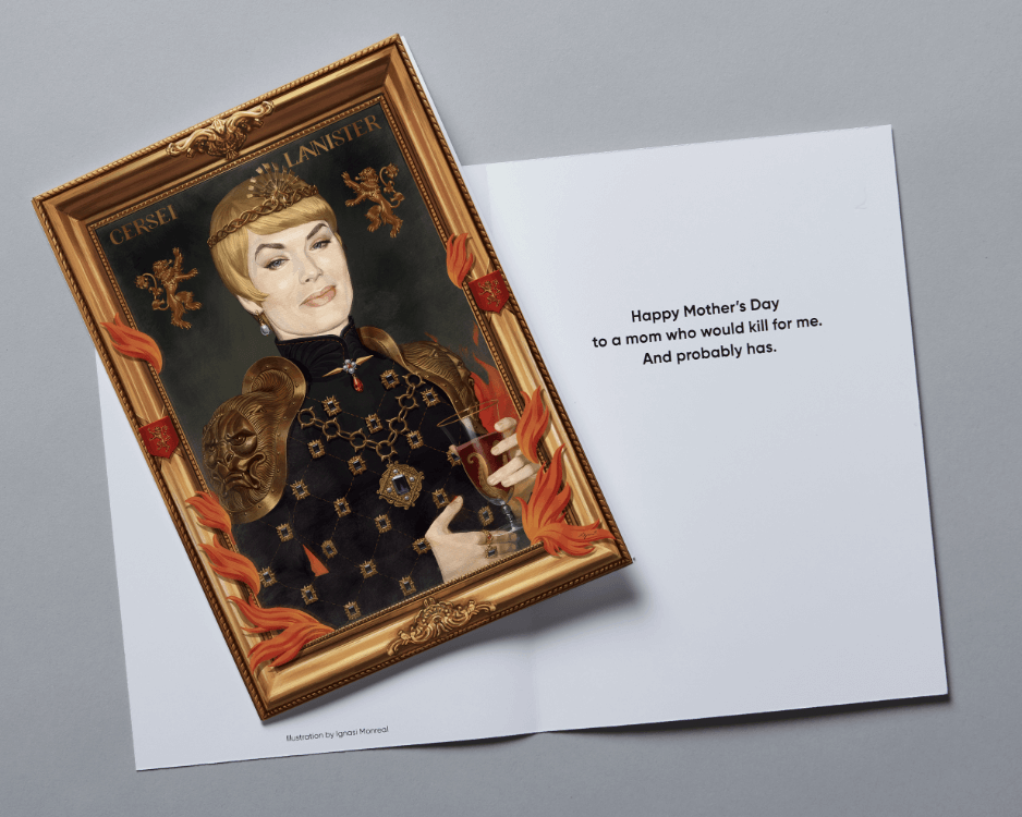 game of thrones mother's day card