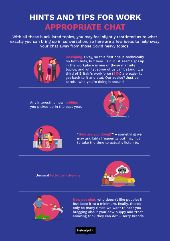 hints and tips for workplace chatter infographic