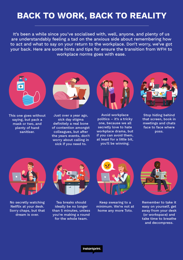 back to work tips infographic