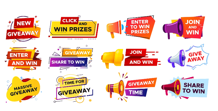 prize banner ad examples