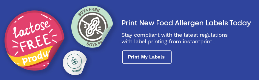 October 1st food allergen label stickers and label printing