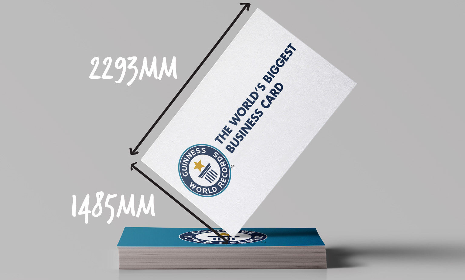 world's largest business card replica with dimensions