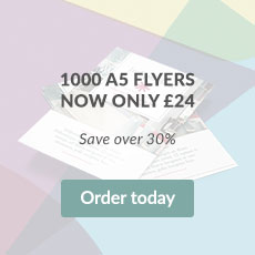 1000 A5 Flyers now only £24. Save up to 30%
