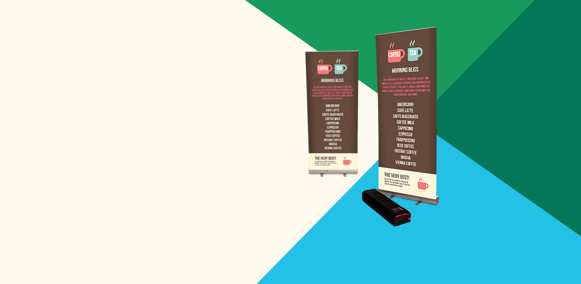 View our range of large format roller banners from £37